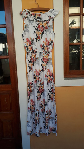 Vestido longo florido MUITO BARATO tam. M  - Foto 6