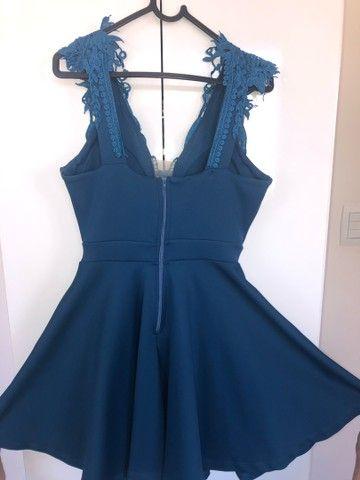 Vestido rodado azul - Foto 2