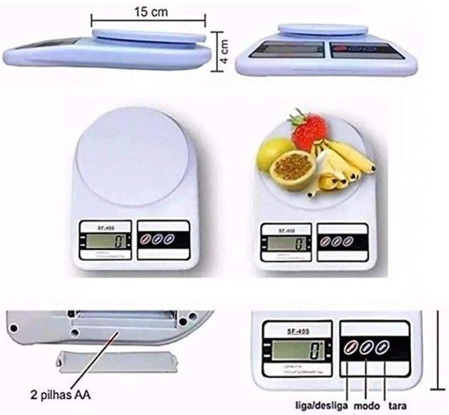 Balança Digital de Cozinha Capacidade Até 10 Quilos - Branca - Foto 4