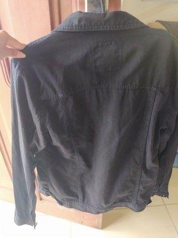 Jaqueta jeans preta - Foto 3