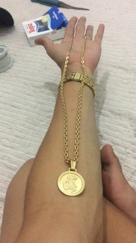Corrente banhada ouro 18k+20% de ouro