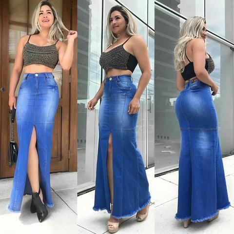 Saia Longa Jeans