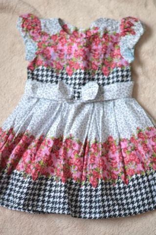 Vestido infantil de festa floral - 1 ano