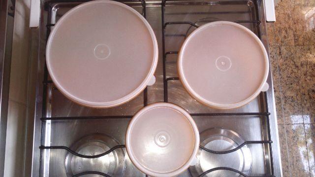 Conjunto De Potes Plásticos (3 Peças)