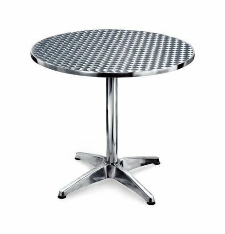Mesa Bistrô Em Alumínio Redonda + 3 Cadeiras