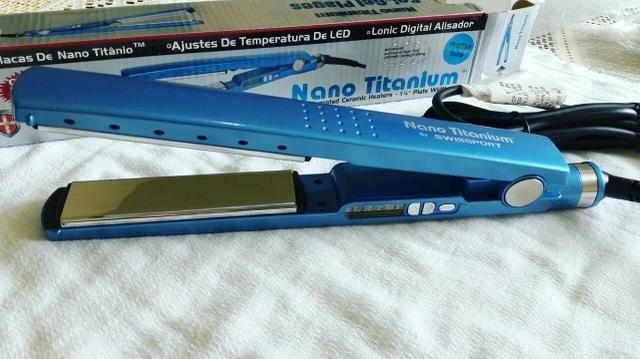 Prancha nano titanium profissional