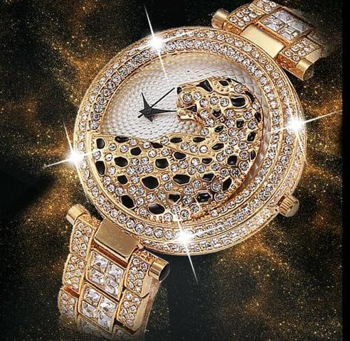9fbf6423fcd Relógio Feminino Miss Fox Leopardo Luxo - Bijouterias