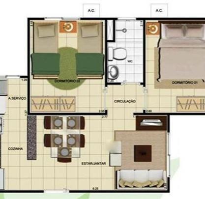 Villa Jardim Lirio Torquato (antes da barreira) 41m² 2 Qtos - R$ 133.700,00 - Foto 10