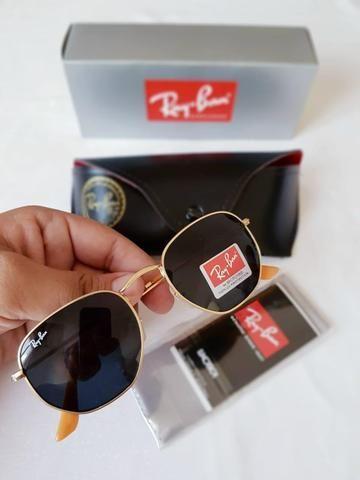 a7db112a4 PROMOÇÃO DO DIA oculos de sol modelo ray ban hexagonal 1 linha, lentes  polarizadas
