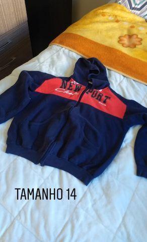 Calças camiseta e moletons de abrigo infantil menino TAM 6,8,12 e 14. Preço acessível - Foto 5