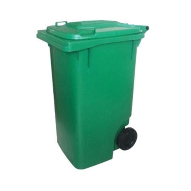 Carrinho Coletor de Lixo com Rodas sem Pedal de 120 Litros - Foto 5