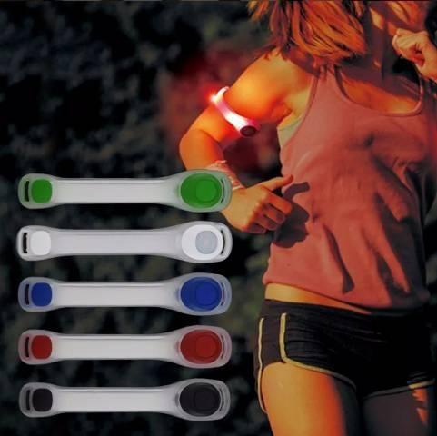 Braçadeira de led flexível para corridas e caminhadas - Foto 2