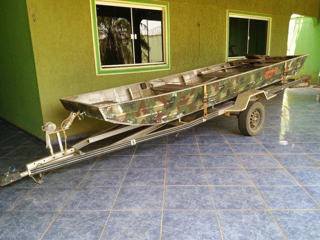 Vendo canoa,motor, carretinha - Foto 6