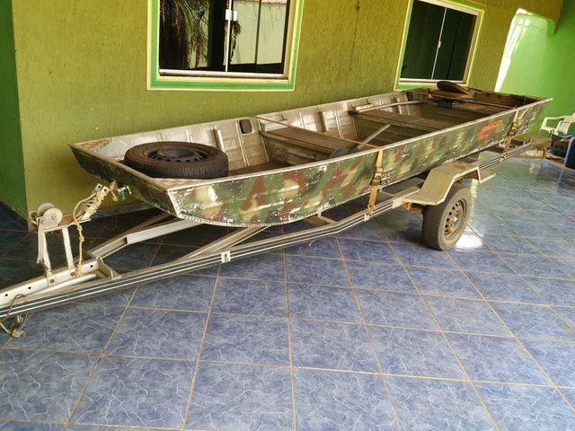 Vendo canoa,motor, carretinha - Foto 4