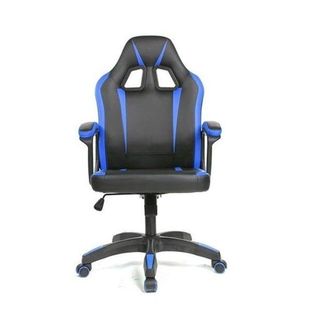 Cadeira Gamer - Nova - Verde - Azul  - Foto 3