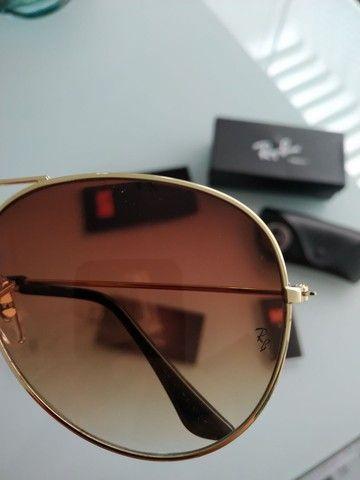 Vendo óculos novo modelo aviador na caixa - Foto 3