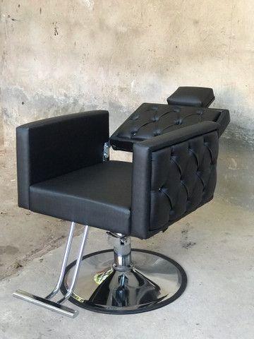 Cadeira Luxo Dubai Hidráulica Reclinável - Foto 2
