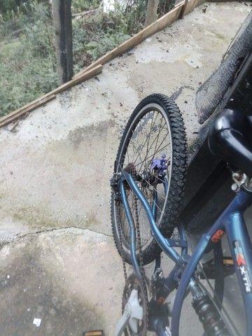 Bicicleta com suporte para criancas freio a disco - Foto 5