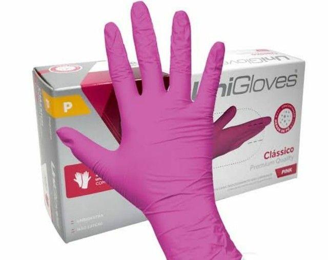 Luvas de látex todos tamanhos  Na cor Pink e branca  - Foto 2