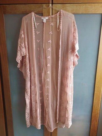 kimono rosê rendado Forever 21 - Foto 2