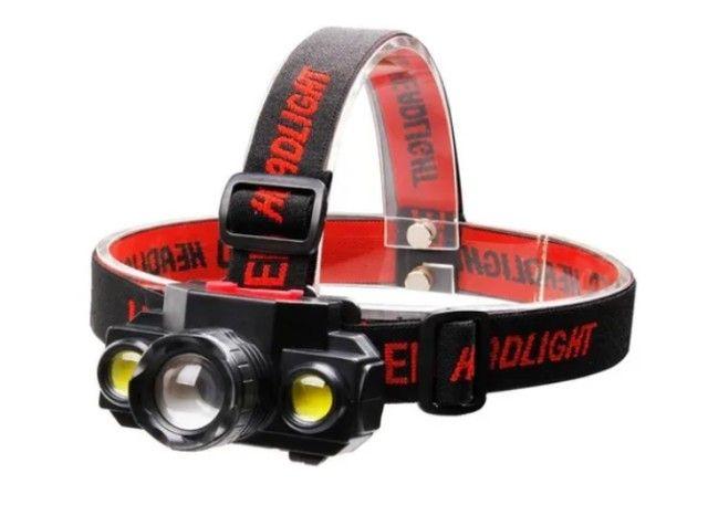 Entrega Grátis - Lanterna de cabeça LT-8516 - Foto 5