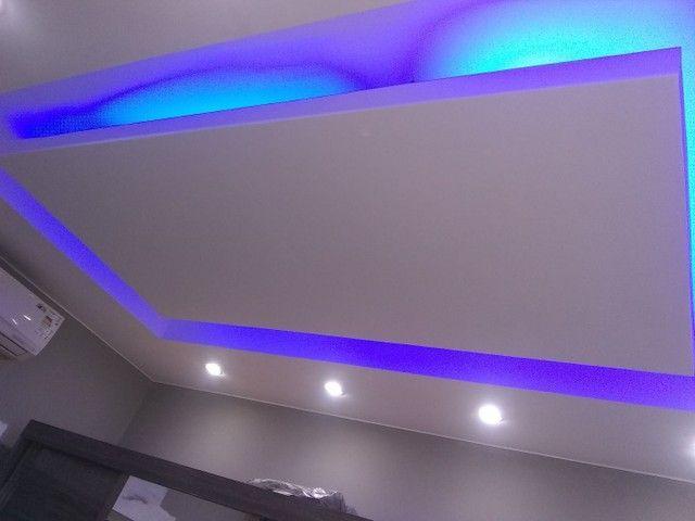 Rebaixamento de teto em gesso 50 reais o m2 - Foto 2