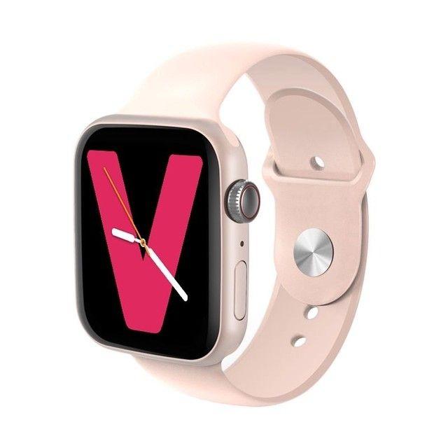 Relógio Inteligente SmartWatch X6 FITPRO Rosa Foto Personalizada - Foto 2