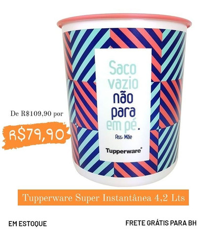 Tupperware Super Instantânea 4,2 Lts
