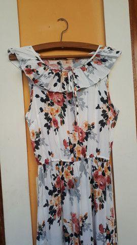 Vestido longo florido MUITO BARATO tam. M  - Foto 2