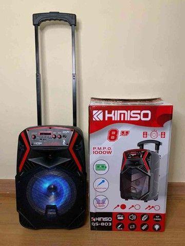 caixa de som Amplificada kimiso  1000w de  Potencia E Karaokê!! ??:  - Foto 2
