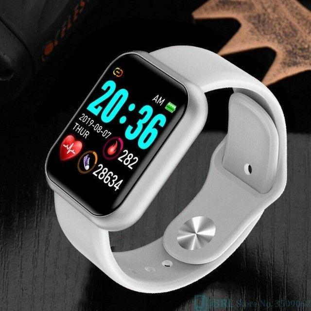 Lindíssimo E Super Moderno Relógio Inteligente Com Várias Funções!  - Foto 2