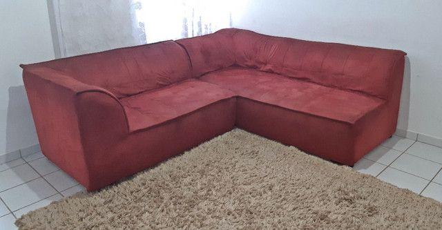 Sofá de Canto | Vermelho