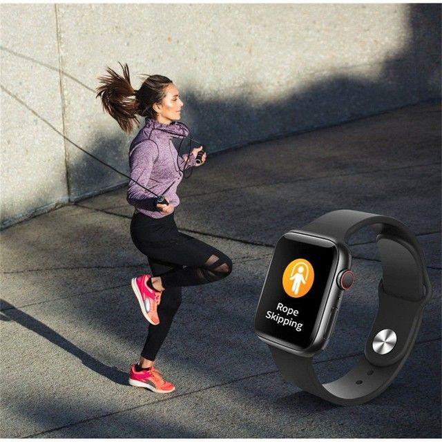 Smartwatch T500 Foto Personalizada batimentos cardíacos contagem de passos tira foto - Foto 5