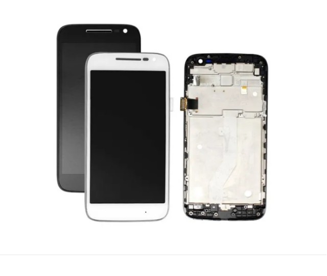 Tela Frontal Lcd Display Touch Moto G4 Plus Preta/ Branca - Foto 2