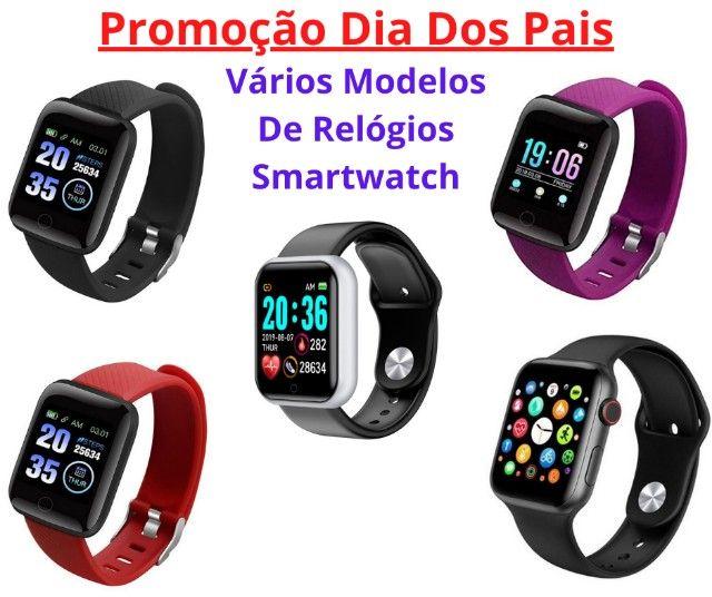 Promoção Dia Dos Pais Lindos Relógios Digitais Smartwatch Vários Modelos
