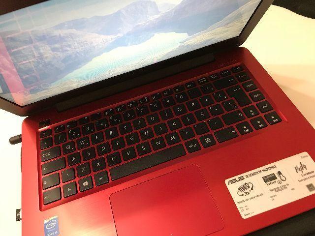 Notebook Asus Intel Core 5 i5 8gb 1tb LED 14' Vermelho