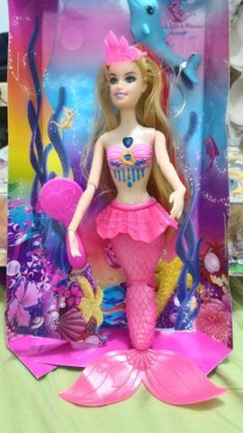 Barbie sereia com luz