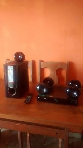 Rometiti LG pega prendave cd e dvd caraoker rádio AM e FM 4 mês de uso