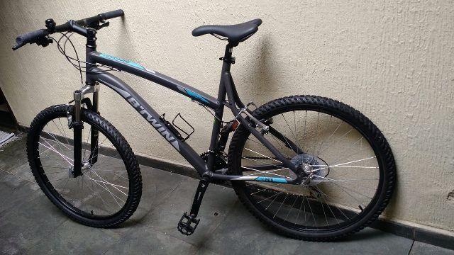 Bicicleta Mountain Bike Rockrider 340 Btwin usada uma vez