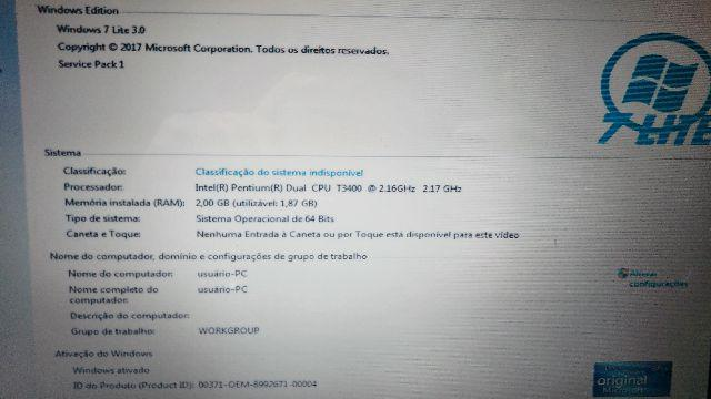 Notebook CCEDual core 007/18