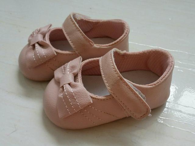 Sapato rosa para bebê, número 15