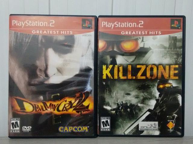 Killzone e Devil May Cry 2 PS2 Original