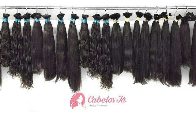 Cabelos Humanos lisos, ondulados e cacheados para Mega Hair, Apliques