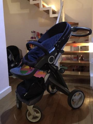 Stokke xplory completo com bebê conforto e moises