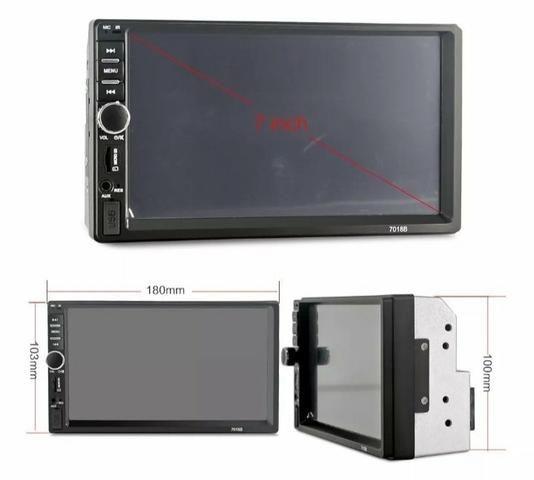 Multimídia FIRST OPTION Universal Espelhamento Bluetooth Câmera de ré - Foto 5