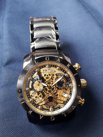 94e5e2fdb76 Relógio Bvlgari Skeleton Iron Man - Bijouterias