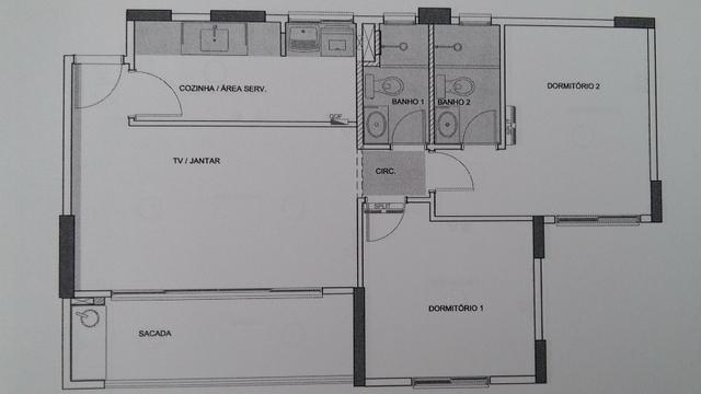 Apto 2 quartos - Condomínio New Park - Parque Cascavel - Jardim Atlântico - Foto 3