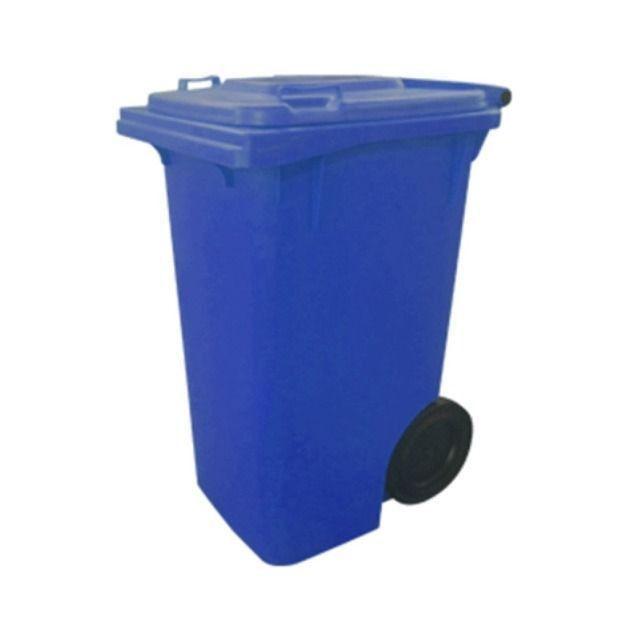 Carrinho Coletor de Lixo com Rodas sem Pedal de 120 Litros - Foto 3
