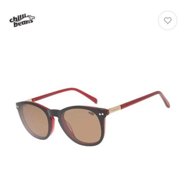 Óculos multi grau/sol vermelho - Foto 3