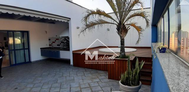Cobertura com 4 suíte, para alugar, 395 m² por R$ 7.000/mês - Vila Valparaíso - Santo Andr - Foto 4